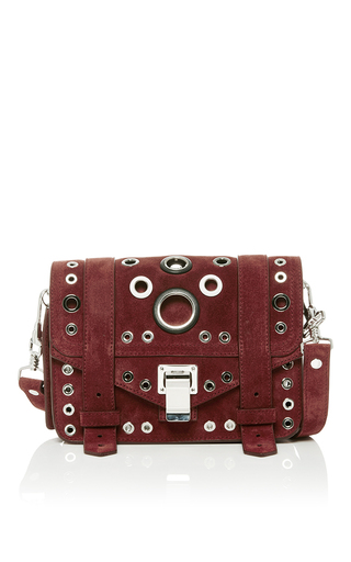 Medium proenza schouler burgundy ps1 eyelet mini crossbody bag