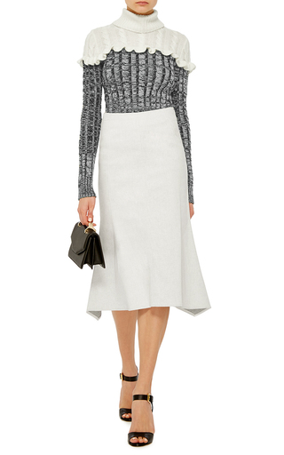 Denim Flared Midi Skirt by DEREK LAM Now Available on Moda Operandi
