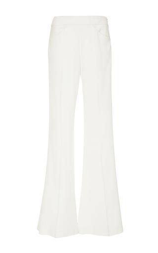 Medium derek lam white pebble crepe flared trousers