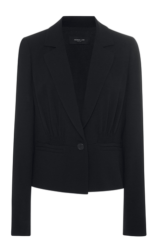 Medium derek lam black pebble crepe jacket