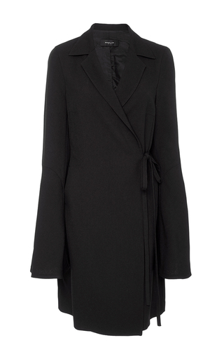 Medium derek lam black wrap shirt dress