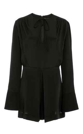 Medium derek lam black silk crepe romper