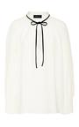 Tie Neck Silk Blouse by DEREK LAM Now Available on Moda Operandi