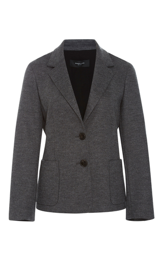 Medium derek lam dark grey two button blazer