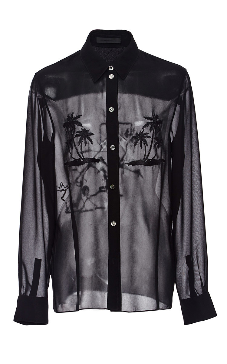 5231a5773a740c Alexander WangThreadwork Silk Chiffon Shirt. CLOSE. Loading