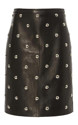 Medium alexander wang black studded leather pencil skirt