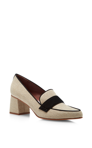 Medium tabitha simmons nude margot heeled loafers