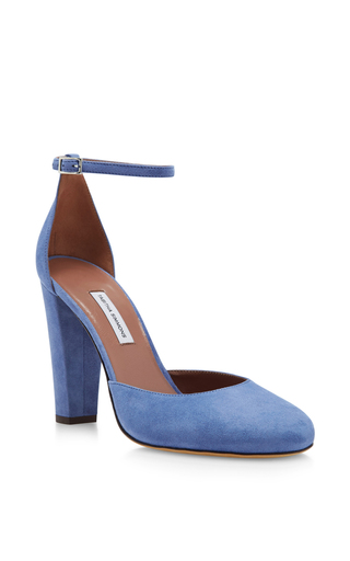 Medium tabitha simmons blue petra suede pumps