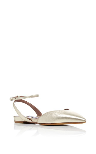 Medium tabitha simmons metallic vera slingback flats