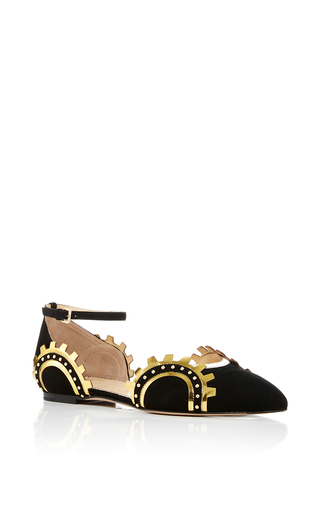 Medium charlotte olympia black machine age flats