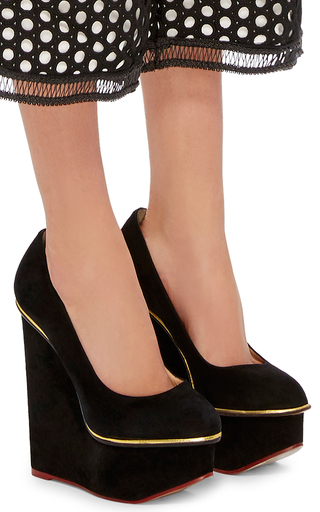 Carmen Suede Wedges by CHARLOTTE OLYMPIA Now Available on Moda Operandi