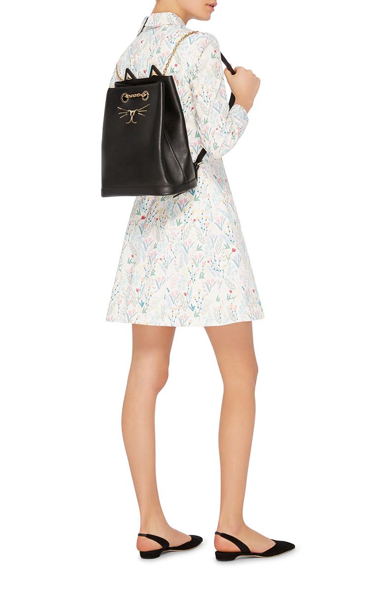 Charlotte Olympia Feline Leather Backpack yGWfJgXRK