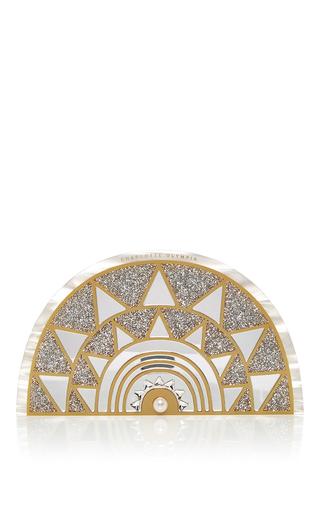 Medium charlotte olympia white irona pearl perspex bag