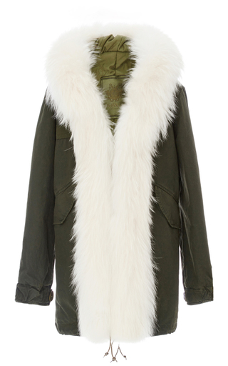 Medium mr mrs italy green fur front parka