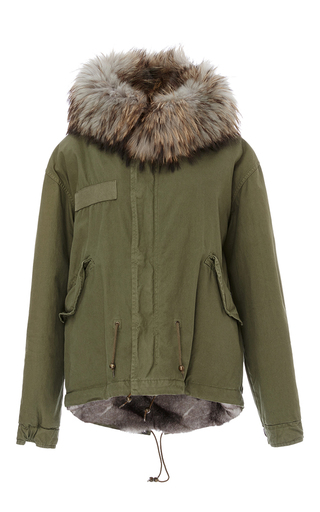 Medium mr mrs italy green natural lapin mini parka