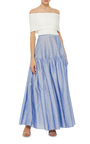Japanese Ramie Tiered Skirt by CO Now Available on Moda Operandi
