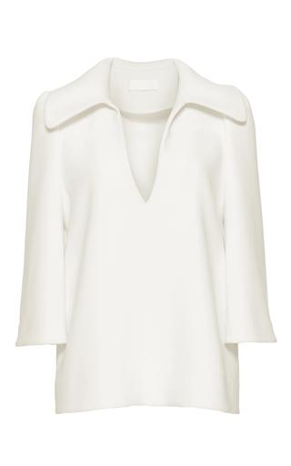 Medium co white structured flared collar shirt