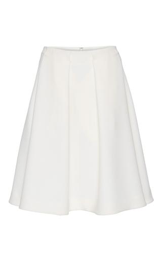Medium co white structured a line skirt