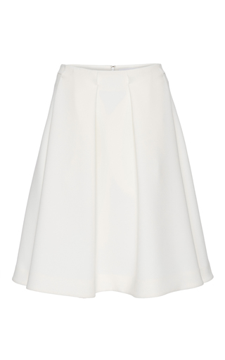 Medium co white structured a line skirt