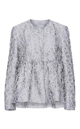 Medium co white jacquard peplum jacket