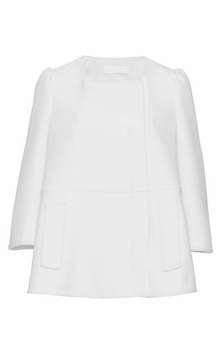 Medium co white crop sleeve jacket