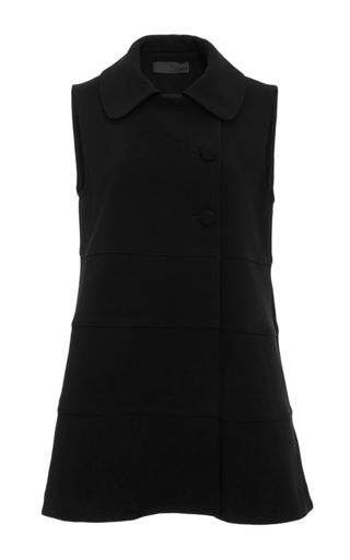 Medium co black structured tiered vest