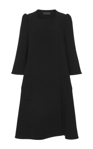 Medium co black structured swing coat