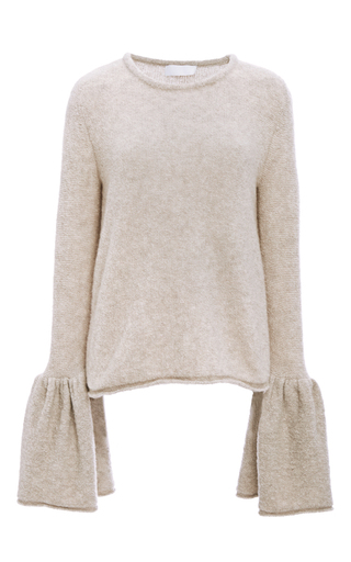 Medium co tan cashmere bell cuff sweater