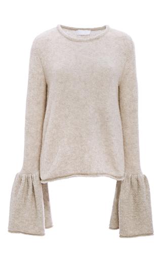 Medium co tan cashmere bell cuff sweater