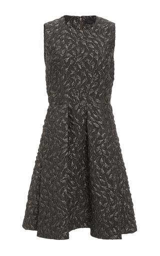 Medium co dark grey flower jacquard sleeveless dress
