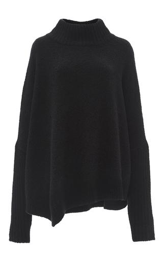 Medium sally lapointe black black silk cashmere boucle sweater