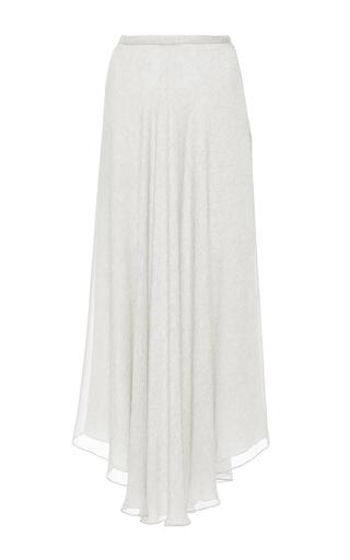Medium sally lapointe light grey melange georgette asymmetrical skirt