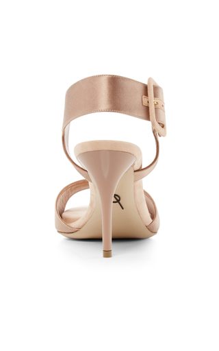 Kalida Satin & Suede Heels by PAUL ANDREW Now Available on Moda Operandi