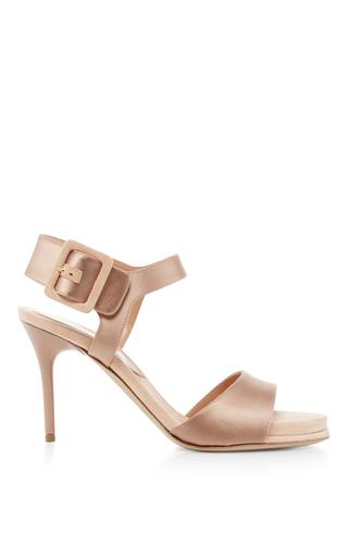 Medium paul andrew nude kalida satin suede heels