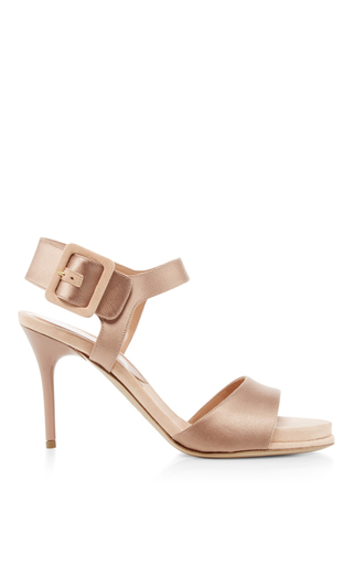 Medium paul andrew nude kalida satin suede heels