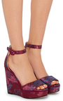 Adalet Brocade Wedges by PAUL ANDREW Now Available on Moda Operandi