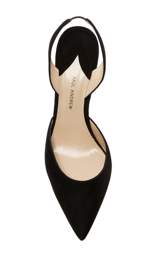 Suede Slingback Heels by PAUL ANDREW Now Available on Moda Operandi
