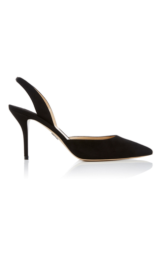 Medium paul andrew black suede heels