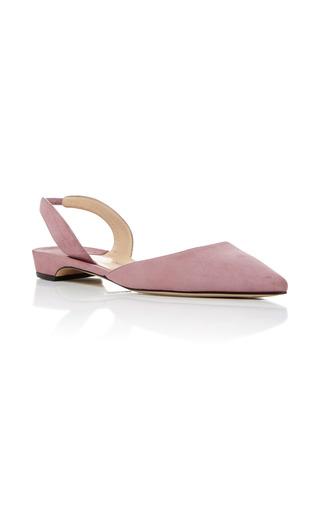 Medium paul andrew pink rhea suede flats