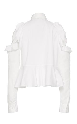 Cutout Shoulder Ruffle Shirt by JONATHAN SIMKHAI Now Available on Moda Operandi