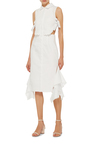 Side Tie Ruffle Skirt Dress by JONATHAN SIMKHAI Now Available on Moda Operandi