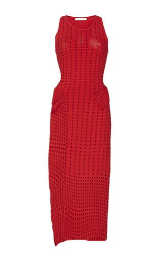 Medium jonathan simkhai red dasha knit slit dress