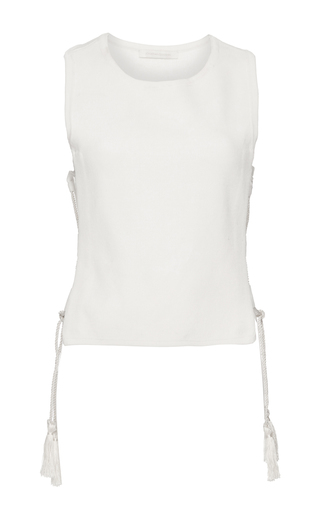 Medium jonathan simkhai ivory solid knit tank