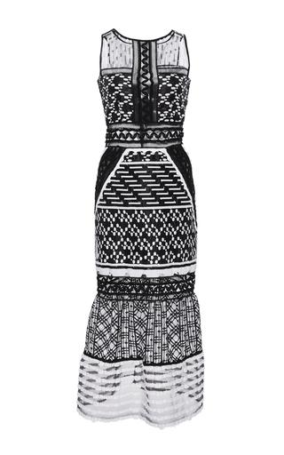 Medium jonathan simkhai black white embroidered organza gown
