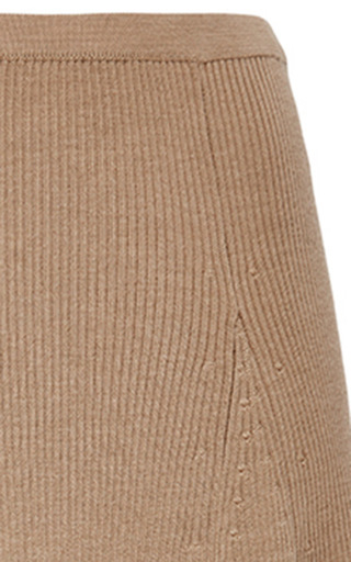 Merino Wool Ribbed Flared Skirt by ROSETTA GETTY Now Available on Moda Operandi
