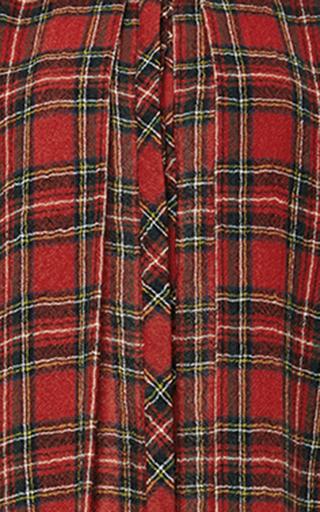 Japanese Tartan Split Front Shirt by ROSETTA GETTY Now Available on Moda Operandi