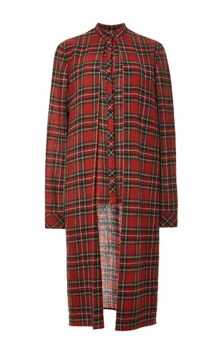 Medium rosetta getty plaid japanese tartan split front shirt