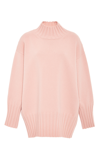 Medium rosetta getty pink cashmere merino oversized turtleneck