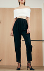 Ribbed Foldover Crop Top by ROSETTA GETTY Now Available on Moda Operandi