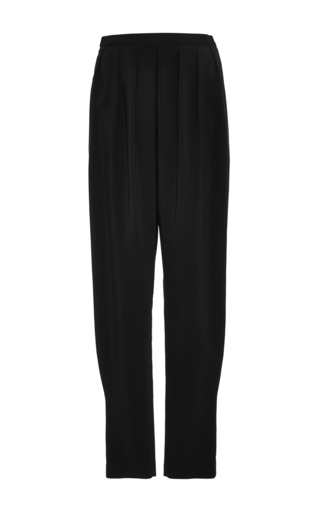 Medium rosetta getty black pleated harem pants